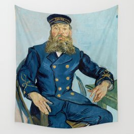 """Vincent Van Gogh """"Portrait of the Postman Joseph Roulin"""" Wall Tapestry"""