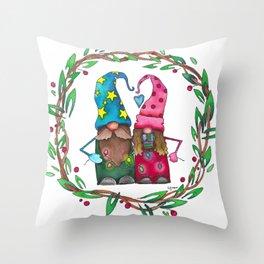 Love & Light Gnomies Throw Pillow