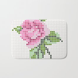Shabby Chic Pink Rose Bath Mat