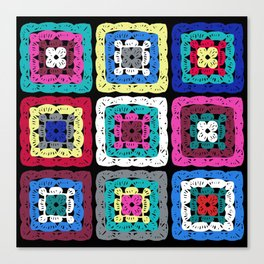 Granny Square Canvas Print