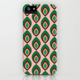 Peacock feather pink #homedecor #midcenturydecor iPhone Case