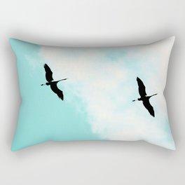 Crane(s) V Rectangular Pillow