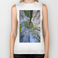 woodland Biker Tanks featuring Woodland by Shadoisk