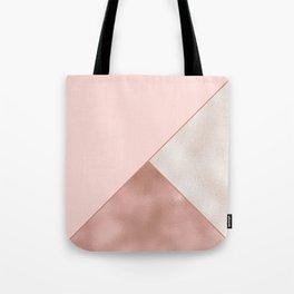 Luxury Glamorous Rose Gold Metallic Glitter Tote Bag