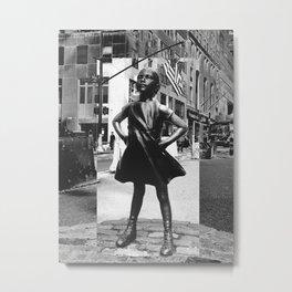 Fearless Girl Metal Print