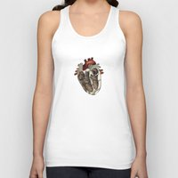 anatomical heart Tank Tops featuring Anatomical Heart  by Whoosh