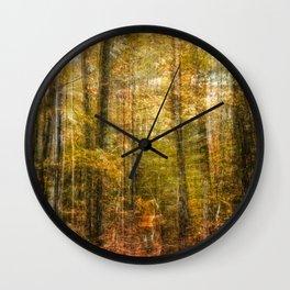 Woodsy Walk Wall Clock