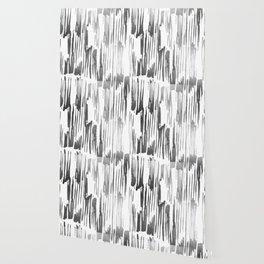 Modern Stripes Gray Wallpaper
