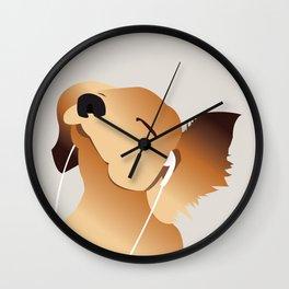 Jammin' Puppy Dog Wall Clock