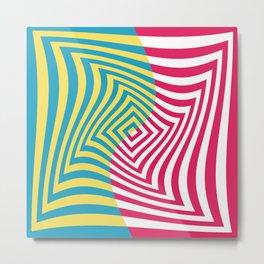 Colorful distorted Optical illusion art Metal Print