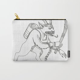 Krampus With Stick Doodle Art Carry-All Pouch