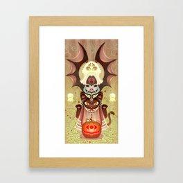 Trick-or-Treat Totem Framed Art Print