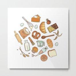 Bakery Essentials Pattern Metal Print