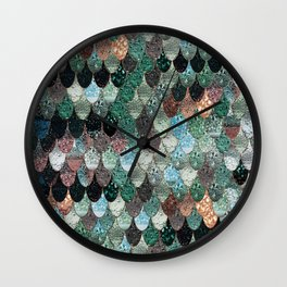 SUMMER MERMAID SEAWEED MIX by Monika Strigel Wall Clock