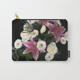 Bouquet on black Carry-All Pouch