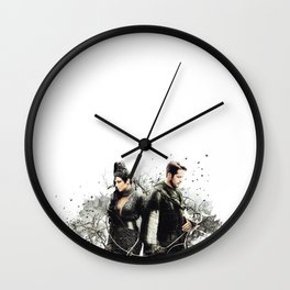 Outlaw Queen - Soul Mates Wall Clock