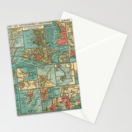 See Atlas 1906 - German Sea Atlas - Mediterranean and Indian Ocean Seaports; Venice, Messina, Bombay Stationery Cards