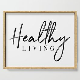 Healthy Living Serving Tray