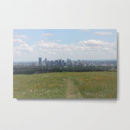View of Calgary from Nosehill Metal Print