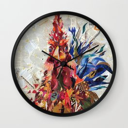 Righteous rooster Wall Clock