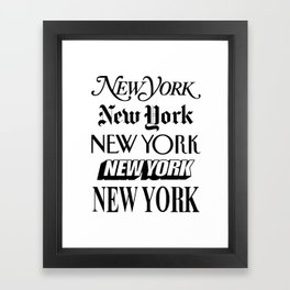 I Heart New York City Black and White New York Poster I Love NYC Design black-white home wall decor Framed Art Print