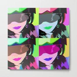 Girls Helmet Pop art Metal Print