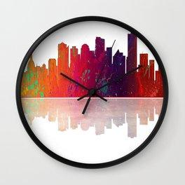 Skyline Edmonton 1 Wall Clock