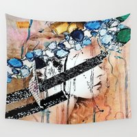 fairy Wall Tapestries featuring Fairy by Katy Hirschfeld