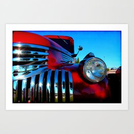 Candy Apple Red Art Print