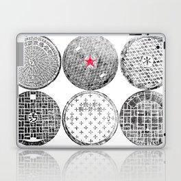 Manhole Cover Ink Print Complilation Laptop & iPad Skin