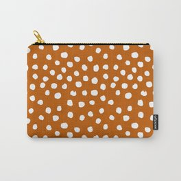Texan texas longhorns orange and white university college football dots Carry-All Pouch