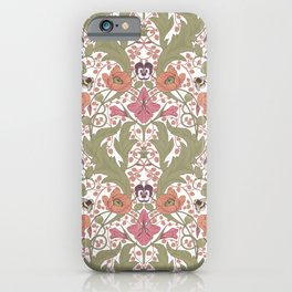 Spring Pattern with Poppy Flowers and Gladioli iPhone Case
