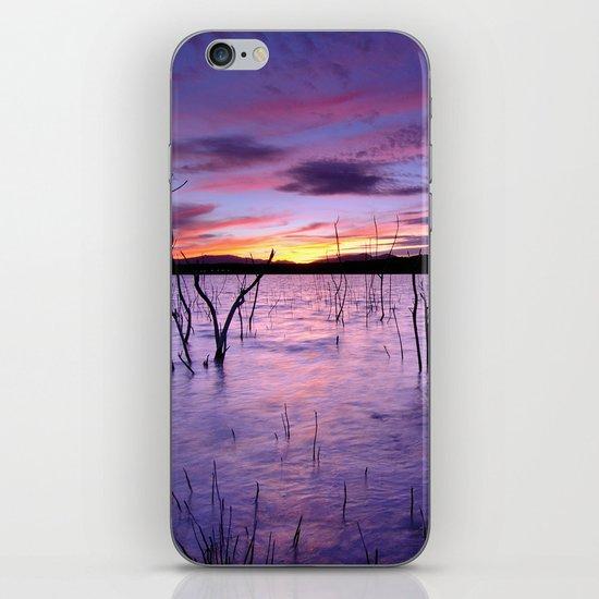 Purple waters iPhone & iPod Skin