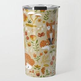 Foxes with Fall Foliage Travel Mug