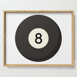 Eight Ball Serving Tray