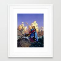 tyrion Framed Art Prints featuring King Arthur by Hescox
