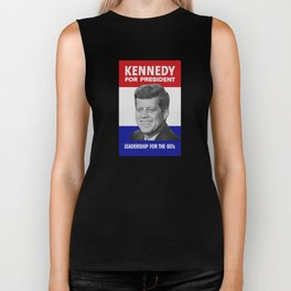Kennedy For President - Leadership For The 60's Biker Tank