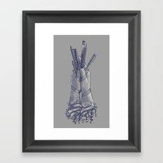 An Artist's Hands Framed Art Print
