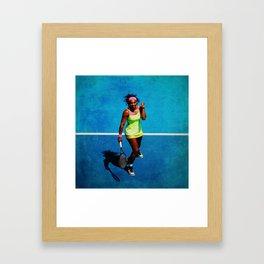 Serena Williams Tennis Celebrating Framed Art Print