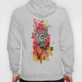 Abstract flower's face, colors Hoody
