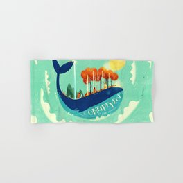 :::Tall Tree Whale::: Hand & Bath Towel