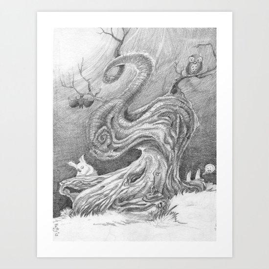 Magic Tree Night Art Print