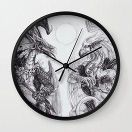 Two Shamans Wall Clock