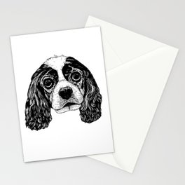Cavalier King Charles Spaniel Dog Drawing Stationery Cards