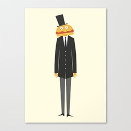 Burger Man Canvas Print