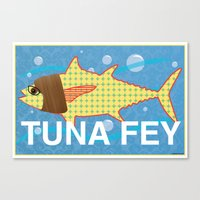 tina fey Canvas Prints featuring Tuna Fey by Adrienne S. Price