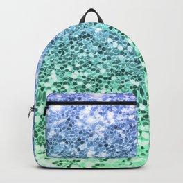 Glitter Sparkling Blue Green Turquoise Teal Backpack