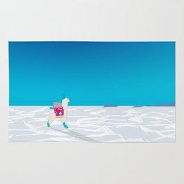 Bolivia Salt Flats Travel Poster Rug
