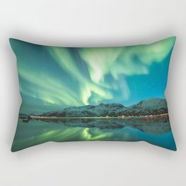 Northern Lights in Norway Rectangular Pillow