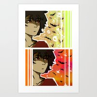 nico di angelo Art Prints featuring spooky nico by JASE